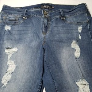 Torrid Premium Distressed Jegging